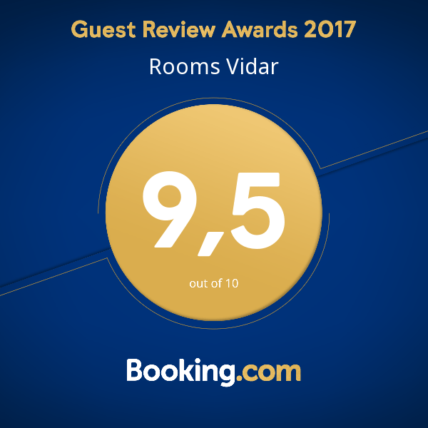 Rooms Vidar Booking Award